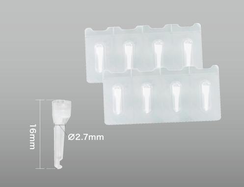 Flexible plastic nozzle tip